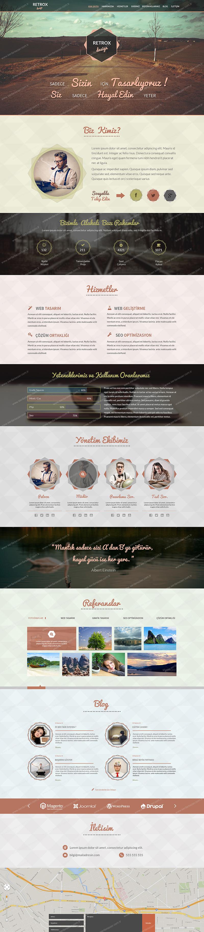 retrox-one-page-tasarım