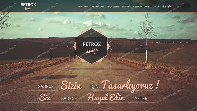 RETROX ONE PAGE KREATİF ARAYÜZ