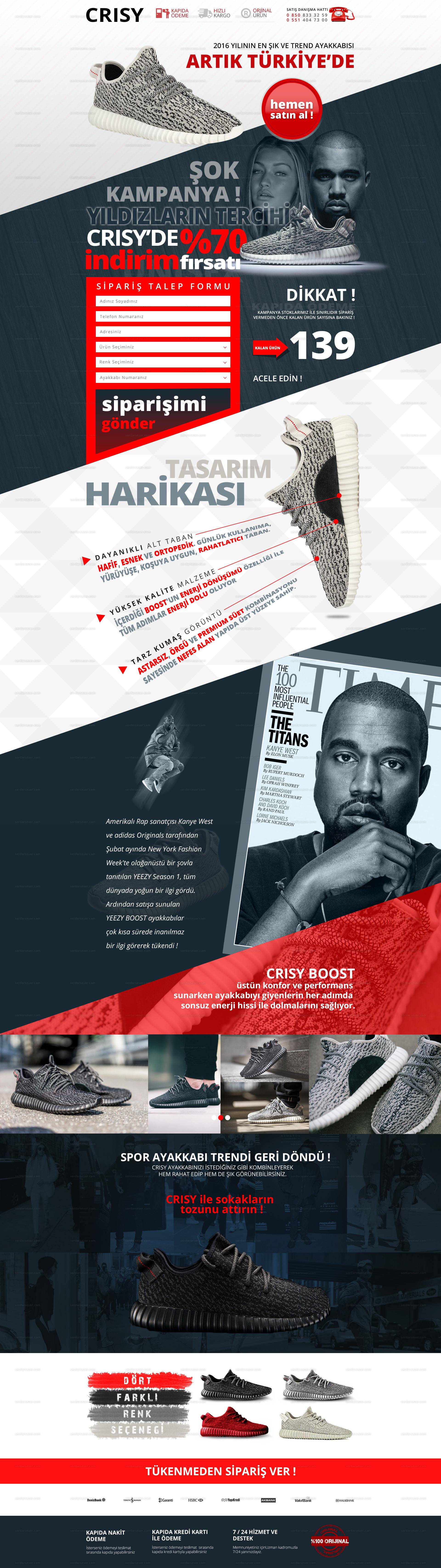 Tek sayfa ürün tanıtım ve satış sitesi