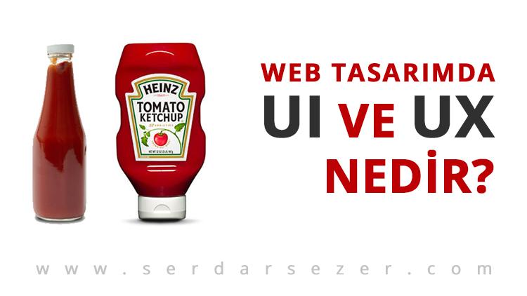 web tasarimda ui ve ux tasarım