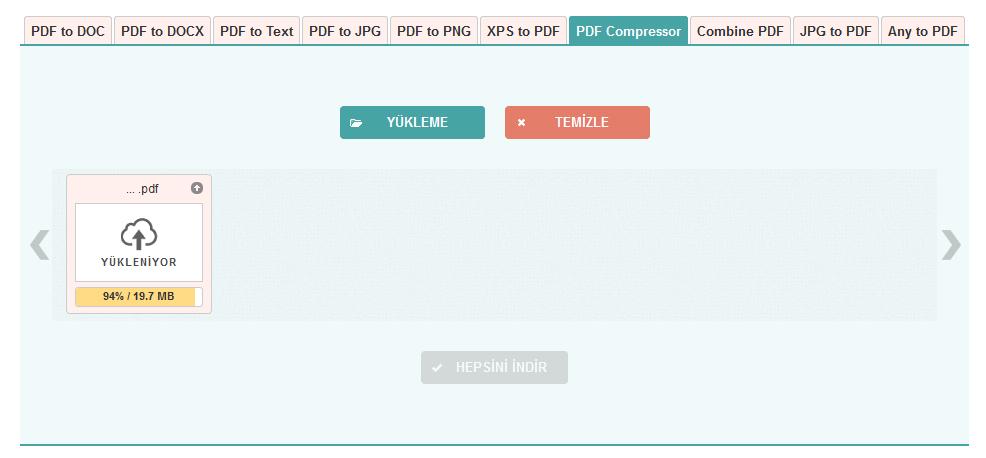 pdf sıkıştırma ve dönüştürme