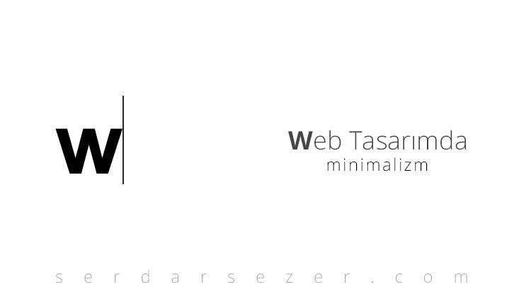 web tasarımda minimalizm