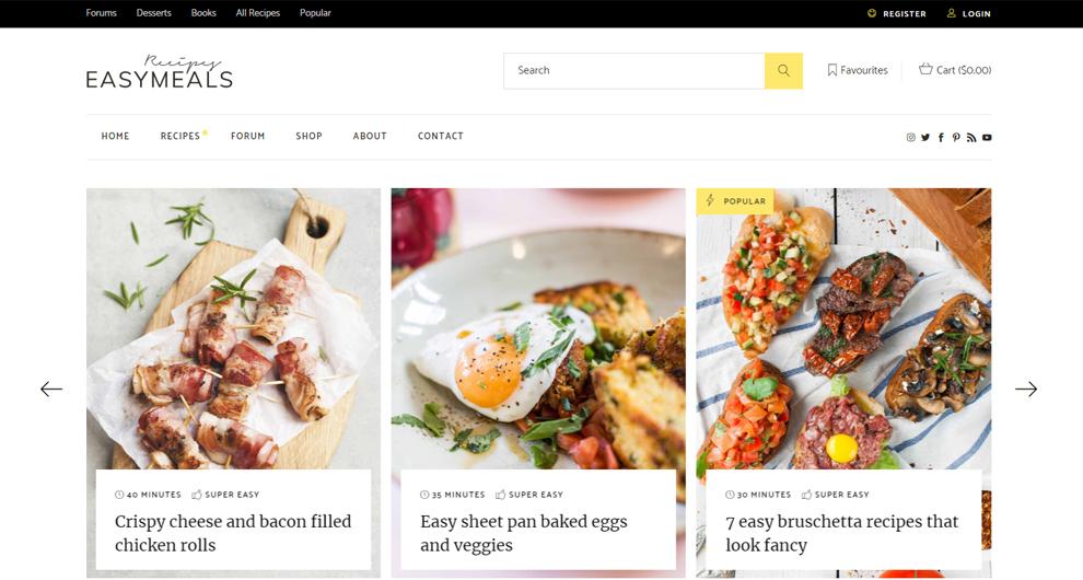 yemek blogu teması